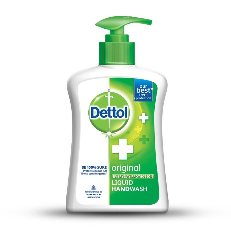 Dettol Anti-Bacterial Hand Wash Pump - 200ml Refill Pack Free
