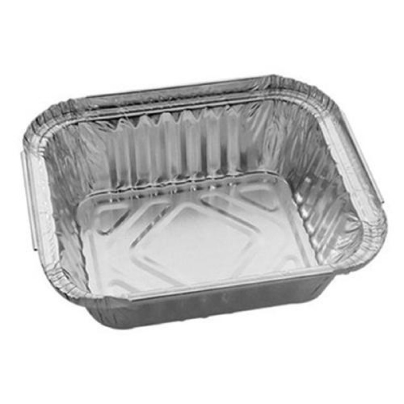 100 Pieces Aluminium Wrapping Box - 450ml